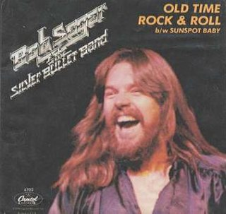 Old Time Rock and Roll 1979 single by Johnny Hallyday and Bob Seger