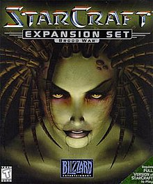 The box art of StarCraft: Brood War