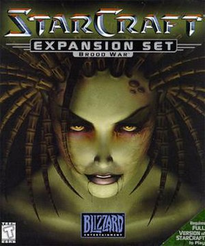 StarCraft: Brood War - Box art displays Kerrigan, one of the series' main characters.
