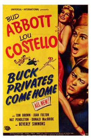 Buck Privates Come Home - Theatrical release poster