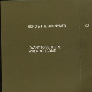 I Want to Be There (When You Come) - Image: Bunnymen iwanttobethere 7inch