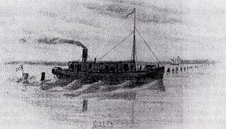 Battle of Elizabeth City - CSS Ellis after her capture