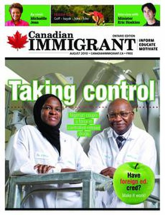 Canadian Immigrant - Cover of Canadian Immigrant, Aug, 2010 issue.