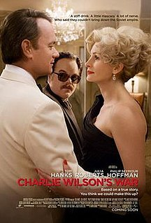 2007 biographic comedy movie on Charlie Wilson and Afghanistan directed by Mike Nichols