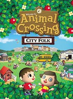 <i>Animal Crossing: City Folk</i> 2008 life simulation video game by Nintendo on the Wii