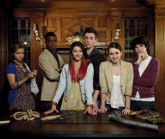 Clue (miniseries) - L to R: Agnes, Dmitri, Liz, Seamus, Whitney and Lucas
