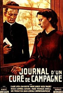 <i>Diary of a Country Priest</i> 1951 French film written and directed by Robert Bresson