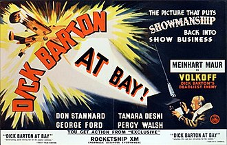 Dick Barton at Bay - Original trade ad in Kinematograph Weekly
