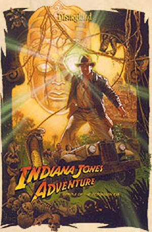 Indiana Jones Adventure - Image: Disneyland Indiana Jones Attraction Poster