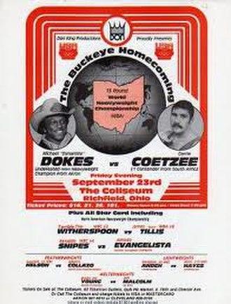 Michael Dokes vs. Gerrie Coetzee - Image: Dokes vs Coetzee