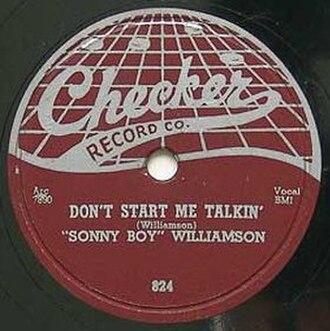 Don't Start Me Talkin' - Image: Don't Start Me Talkin' single cover