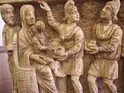 One of the earliest known depictions from a third century sarcophagusVatican Museums, Rome, Italy