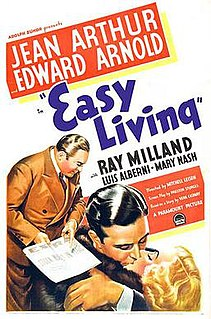 <i>Easy Living</i> (1937 film) 1937 film by Mitchell Leisen
