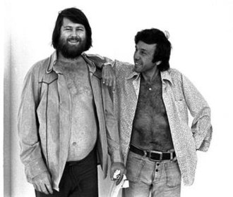 Eugene Landy - Landy (right) with patient Brian Wilson, 1976