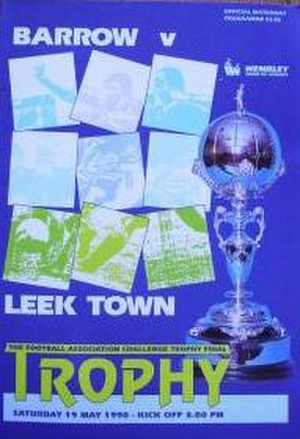 Leek Town F.C. - Leek reached the FA Trophy final in 1990.