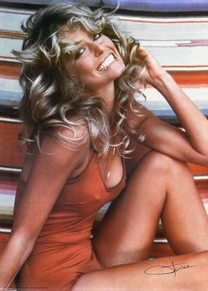 Farrah Fawcett - Fawcett's iconic 1976 poster that sold a record-breaking 20 million copies