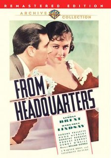 <i>From Headquarters</i> 1933 film by William Dieterle