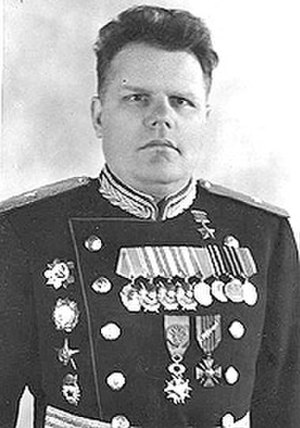 Order of the Red Star - Major General Georgi Zakharov wearing one of his two Orders of the Red Star