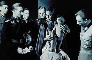 """Gottfried Helnwein - Gottfried Helnwein, """"Epiphany I (Adoration of the Magi)"""", mixed media on canvas, 1996"""