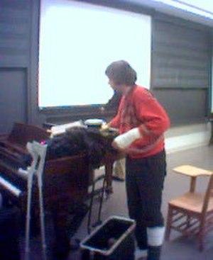 Goodiepal - Goodiepal lecturing at Princeton University, 2003
