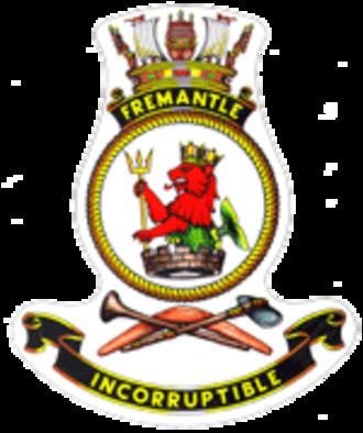 HMAS Fremantle (J246) - Image: HMAS fremantle crest
