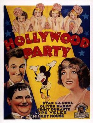 Hollywood Party (1934 film) - theatrical poster