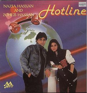 <i>Hotline</i> (Nazia and Zohaib Hassan album) 1987 studio album by Nazia & Zoheb Hassan