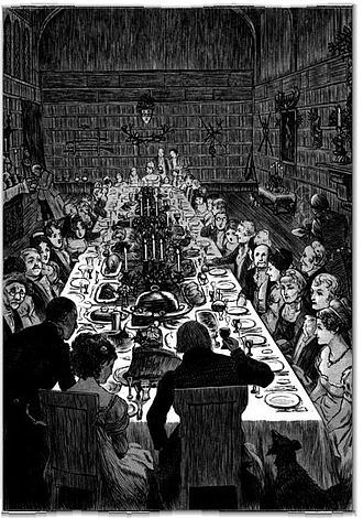The Sketch Book of Geoffrey Crayon, Gent. - Image: Irving Christmas Dinner