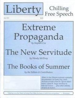 <i>Liberty</i> (libertarian magazine) libertarian journal