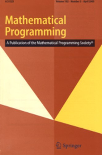 Mathematical Programming - Image: M Pcover 2010