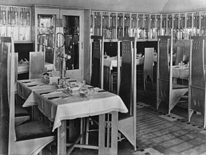 Willow Tearooms - The Room de Luxe in the Tearooms as it was in 1903.
