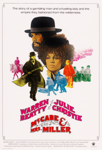 McCabe & Mrs. Miller - Theatrical release poster by Richard Amsel