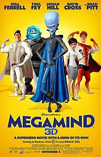 <i>Megamind</i> 2010 American 3D computer-animated superhero comedy film directed by Tom McGrath