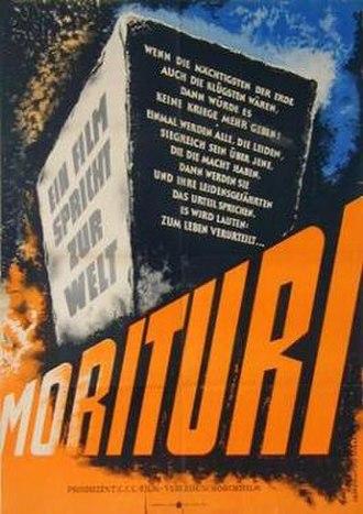 Morituri (1948 film) - Original German poster