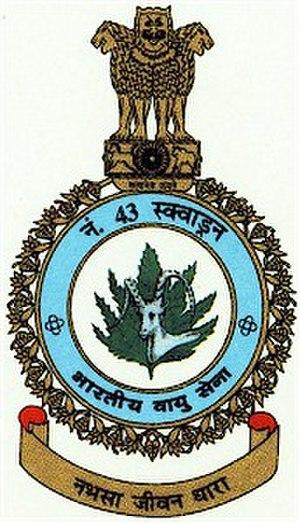 No. 43 Squadron IAF - Image: No. 43 Squadron IAF Logo