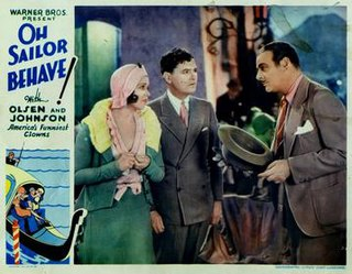 <i>Oh Sailor Behave</i> 1930 film by Archie Mayo