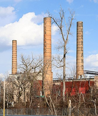 Toledo Complex - Smokestacks dating to 1910 at the Parkway Annex, Toledo Complex. The outer stacks were demolished in 2007.