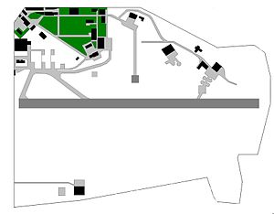 Palermo–Boccadifalco Airport - Map of the airport