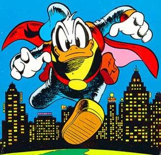 "Donald Duck in comics - Donald as ""Paperinik"". Art by Marco Rota."