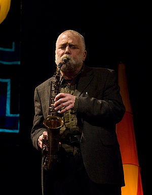 "Peter Brötzmann at ""Sonore"" concert,..."