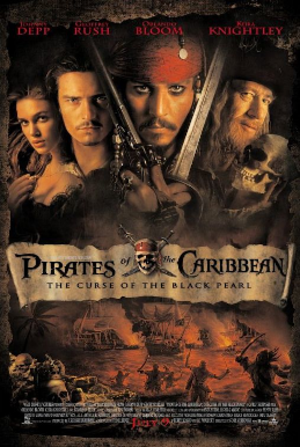 Pirates of the Caribbean: The Curse of the Black Pearl - Theatrical release poster