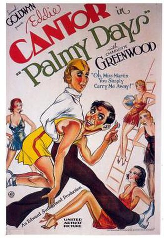 Palmy Days - Theatrical release poster