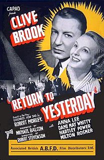 <i>Return to Yesterday</i> 1940 film by Robert Stevenson