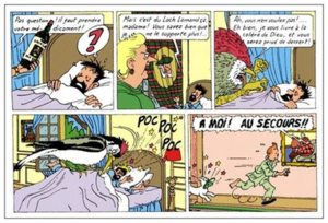 Tintin and Alph-Art - Frames from the opening page of Rodier's version of the book