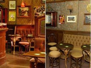Rovers Return Inn - The Rovers before and after with the new wallpaper, floor and soft furnishings