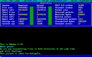 SMODEM - File being transferred in both directions at the same time while chatting with SModem v1.0.