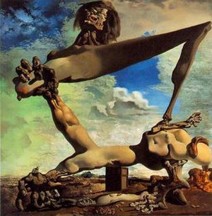 Soft Construction with Boiled Beans (Premonition of Civil War) - Image: Salvador Dali Soft Construction With Beans