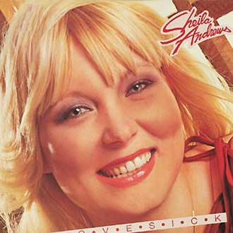 Sheila Andrews - Sheila Andrews on the cover of her album Lovesick