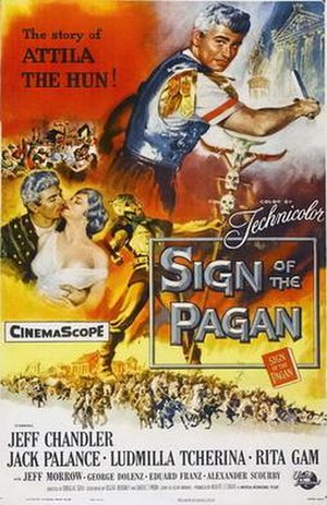 Sign of the Pagan - Film poster by Reynold Brown