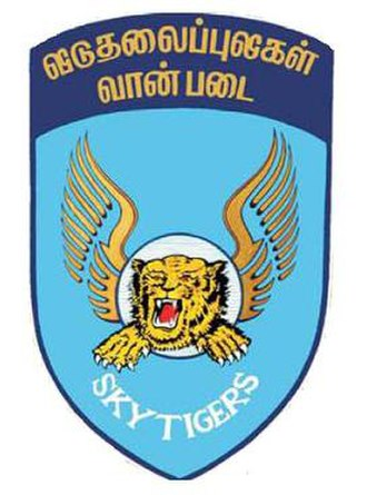 Air Tigers - Logo of the Air Tigers, incorporating the Tamil Tigers logo